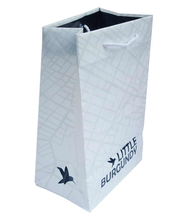 Little Burgundy Plastic Shopping Bag